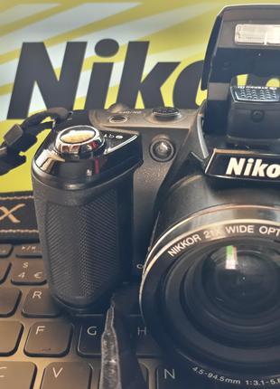 Фотоаппарат Nikon, Фотокамера COOLPIX, Цифровой, Зеркальный, БУ