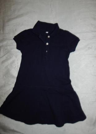 Платье на девочку 4-5 лет 110см в стиле  polo