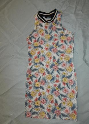 Платье на девочку модное вискоза легкое 12-13 лет 152-158см 91...