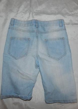 Шорты джинсовые модные на мальчика 9-10 лет 140см