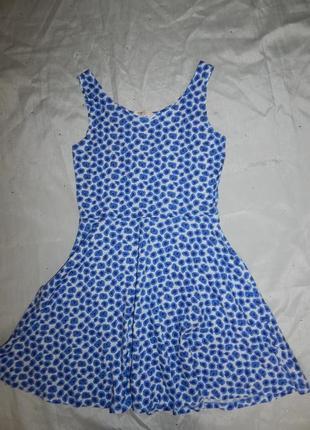 Платье сарафан легкое трикотажное 12-14 лет 160см