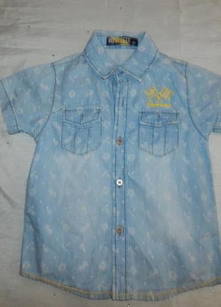 Джинсовая рубашка на мальчика 3года