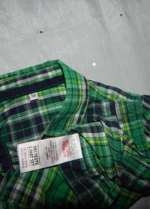 Рубашка модная в клетку на мальчика 5-6 лет 116см