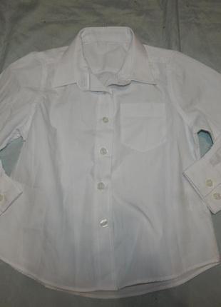 Рубашка белая на мальчика 4 года