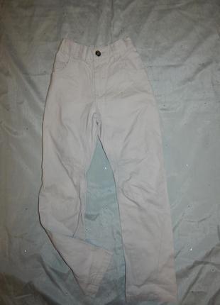 Брюки модные котоновые светлые на мальчика 5-6 лет  110-116см