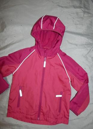Куртка ветровка на девочку 4-5 лет 104-110см