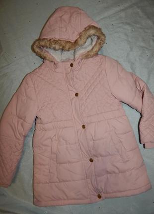 Куртка на девочку демисезонная 5-6 лет 110-116см