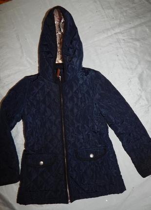 Курточка стеганная демисезонная 7-8лет 128