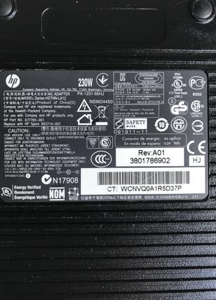 Блок живлення HP PA-1231-66HH, 230W, 19.5V, 11.8A, 7.4 X 5.0mm