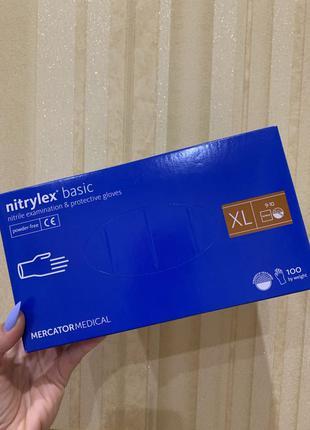 Нитриловые медицинские перчатки XL