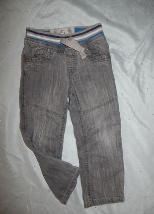 Джинсы на подкладке на мальчика 2-3года 92-98см