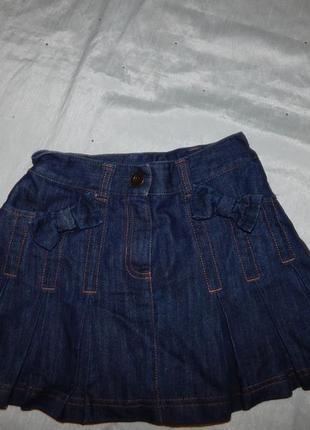 Юбка джинсовая модная на девочку 10 лет 140см