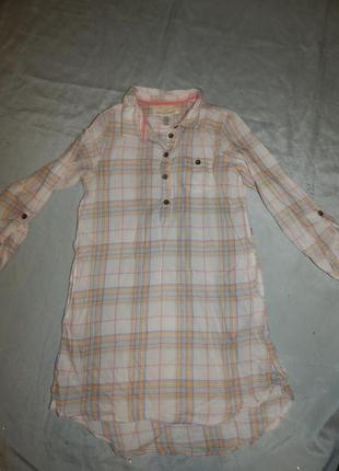 Платье рубашка на девочку 9-10  лет модное от h&m l.o.g.g.