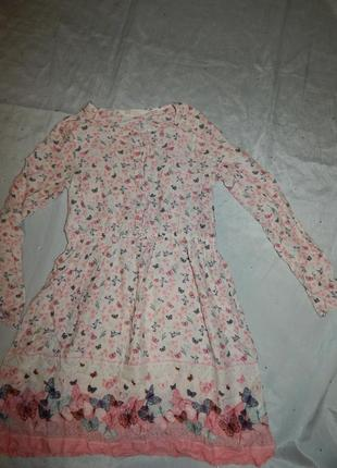 Платье на девочку 9-10 лет модное 140см