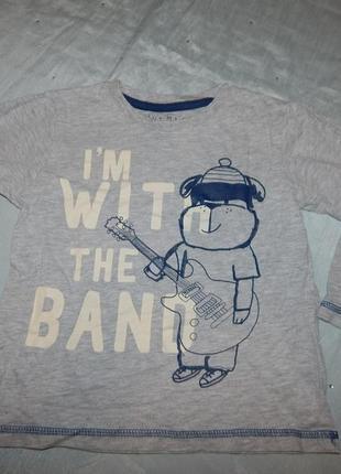 Реглан футболка длинный рукав на мальчика 3-4 года