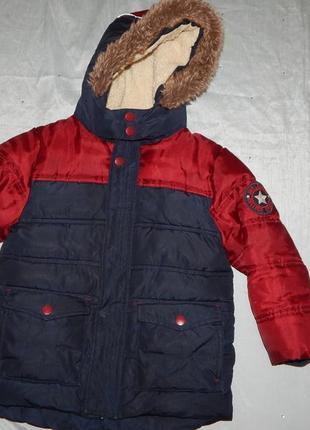 Куртка теплая демисезонная на мальчика 4-5 лет 110см