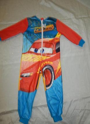 Слип пижама человечек на мальчика 3-4 года 98-104см cars 3 mcq...