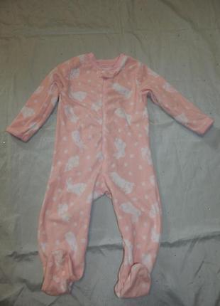 Слип пижама человечек флисовый на малышку 1,5-2 года