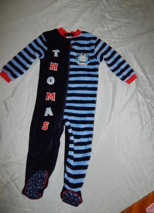 Слип пижама человечек плюшевый кигурими на мальчика 2-3 года