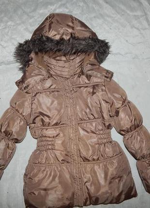 Куртка на девочку 5-6 лет полномерная 118 рост