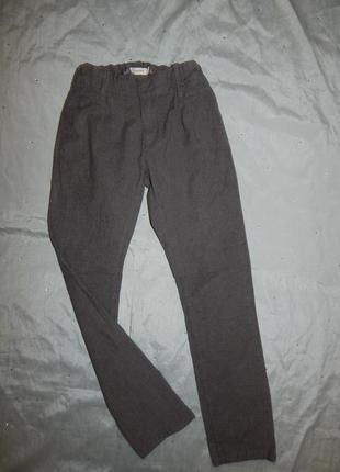 Брюки штаны школьные модные стильные на мальчика 10 лет 140см