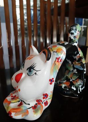 Статуэтка кот яркая керамика есть большая коллекция