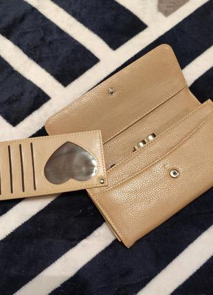 Женский кошелек портмоне клатч с выдвижной визитницей, жіночий...