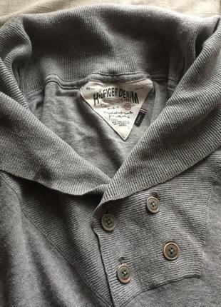 Стильный удлиненный свитер tommy hilfiger denim оверсайз