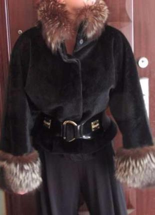 ✅ деми пальто шубка мех