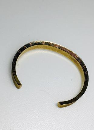 Люксовая бижутерия - золотистый браслет bvlgari