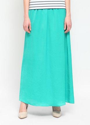 Красивая мятная юбка в пол, длинная юбка макси р.s/m/l