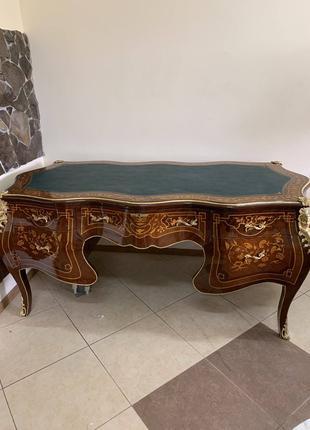 Письменный стол бюро в стиле рококо майкетри латунь