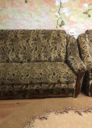 Диван + 2 раскладные кресла