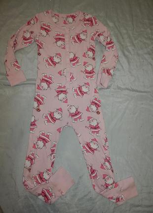 Слип пижама человечек на девочку 10 лет 140см