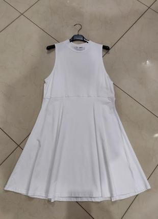 Ликвидация товара 🔥  классическое белое мини платье с горловиной