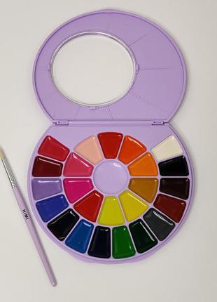 Краски акварельные HIMI акварель 24 цвета с кисточкой сиреневая