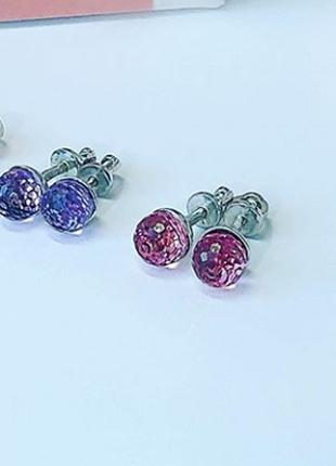 Серьги гвоздики / пусеты с кристаллом swarovski