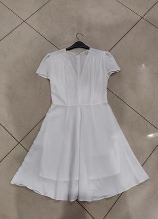 Ликвидация товара 🔥   белое мини платье с коротким рукавом и в...