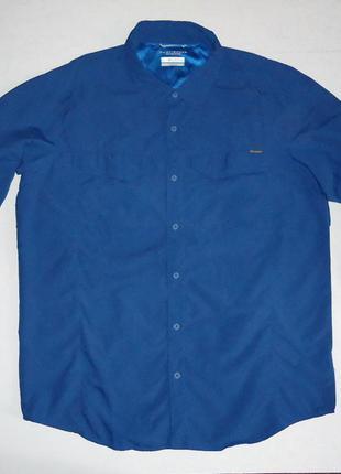 Рубашка трекинговая columbia omni-shade синяя туризм (xl)