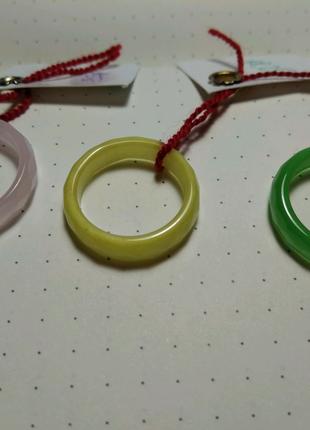 Кольцо Кошачий глаз. Зелёный, жёлтый, розовый