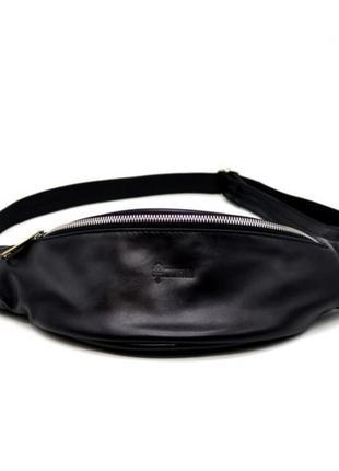 Поясная сумка среднего размера, натуральная кожа