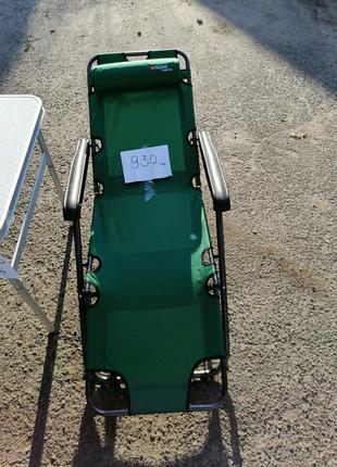 Шезлонг, кресло раскладное для отдыха, кемпинга, моря, бассейна,