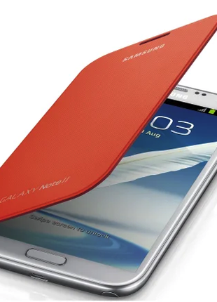 Чехол Samsung Galaxy Note 2 EFC-1J9FOEGSTD N7100 Orange