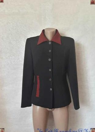 Новый стильный базовый лакуничный пиджак/жакет с полироваными ...