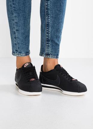 Оригинальные кожаные кроссовки nike cortez