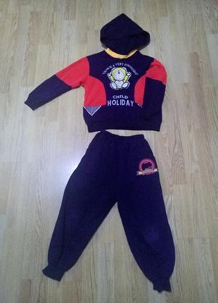 Детский теплый костюм кофта и штаны для дома.5-6 лет