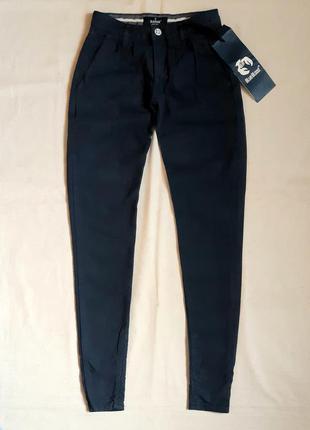 Темно синие супер узкие брюки чиносы скинии blue blood  нидерл...