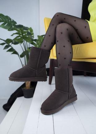 😍женские коричневые угги😍замшевые зимние уги/сапоги с мехом