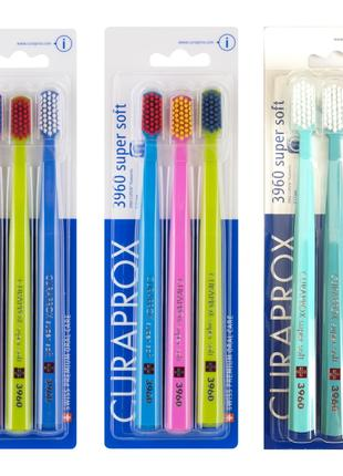 Зубная щетка Curaprox Курапрокс 3960 Super Soft. 3 шт в наборе