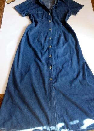 Платье макси в пол 48 размер офисное футляр бюстье джинсовое н...